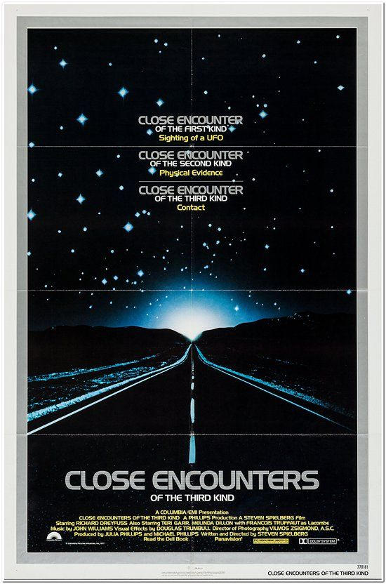 Close Encounters Of The Third Kind - Silver Border Style