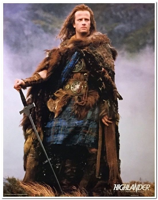 Highlander 1 - English Poster #1 - Christopher Lambert
