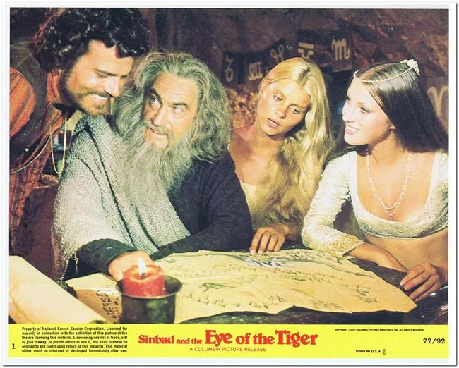 Sinbad And The Eye Of The Tiger - Mini Lobby Card Set - 8 Cards