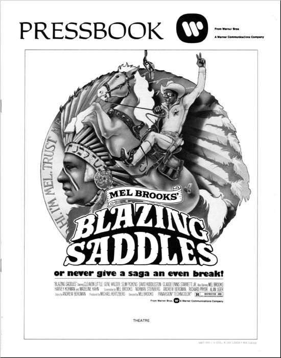 Blazing Saddles - Press Book