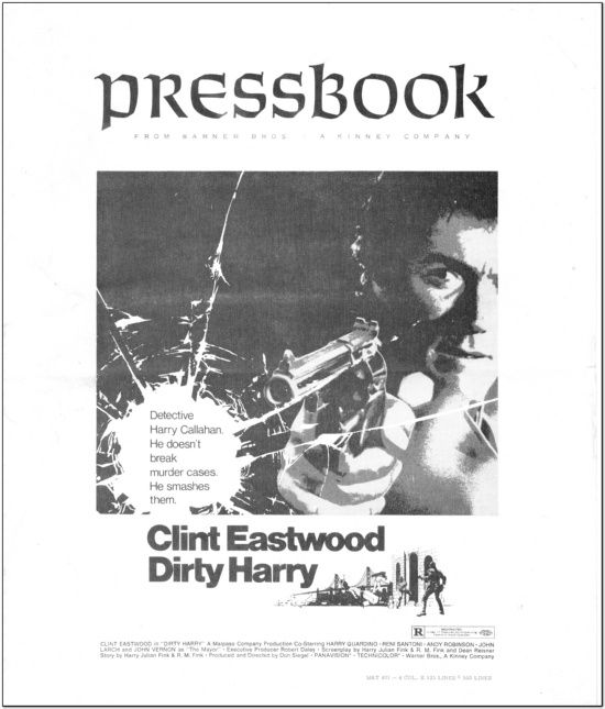 Dirty Harry - 1971 - Press Book
