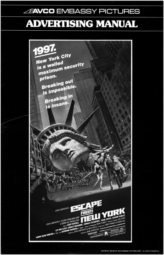 Escape From New York - Press Book