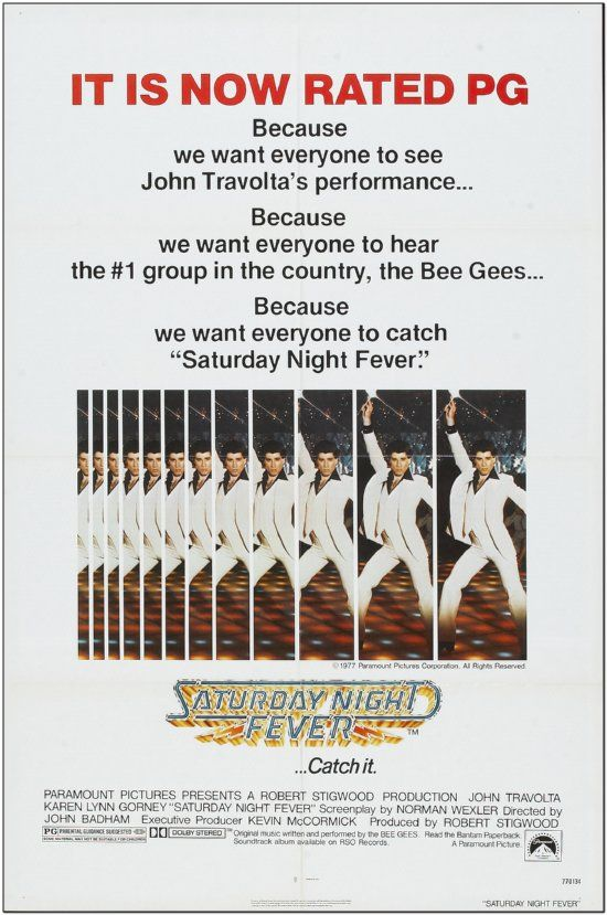 Saturday Night Fever - R77 - Rated PG Style