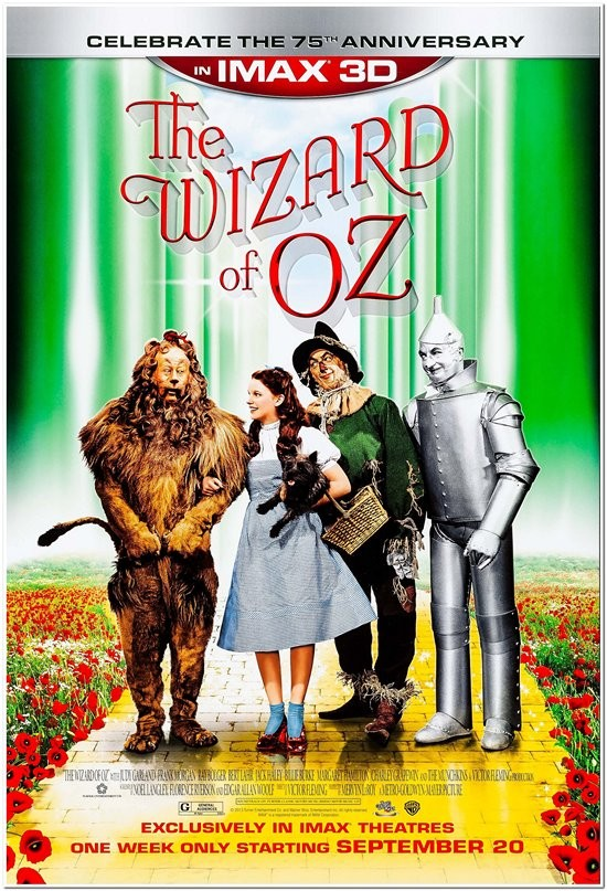 Wizard of Oz - 2013 Re-release - 75th Anniversary