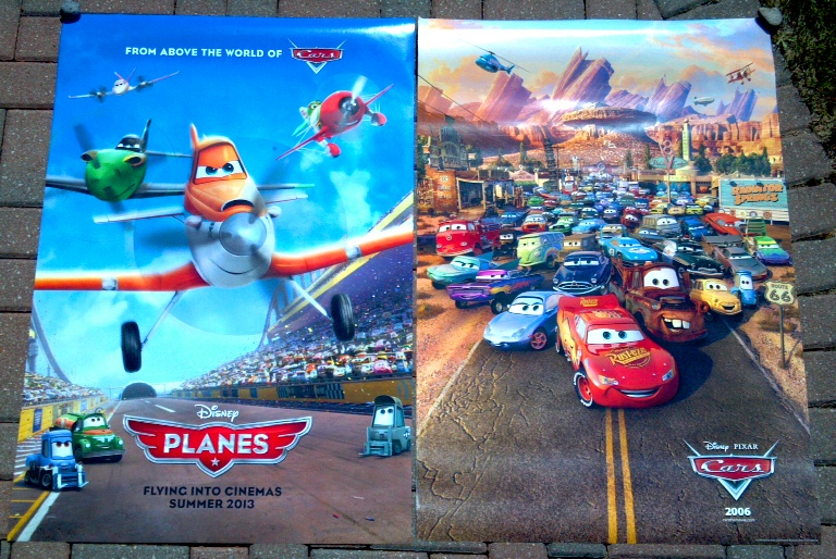 Movie Posters 2006: PLANES (2013) And CARS (2006)