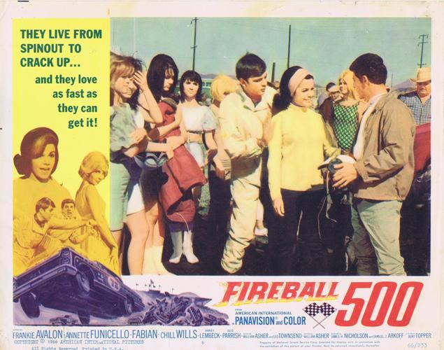 Fireball 500 1966 4 Orig 11x14 Lobby Cards 3678 Frankie