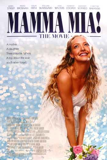 mamma mia movie poster. MAMMA MIA- 2-sided reg movie poster 27x40 MARYL STREEP | eBay