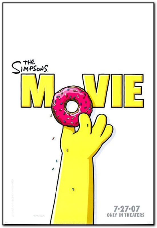 Simpsons Movie 2007 Orig D S Movie Poster 27x40 Advance Style A Donut Ebay